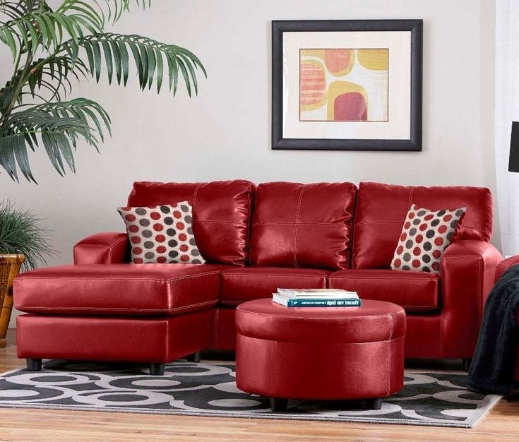 Red Leather Sofa Living Room Ideas, best 25 red sofacor as ...