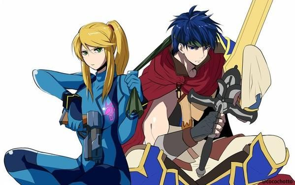 Samus Zero Suit and Ike. I know it's a bit weird, but I ship it.