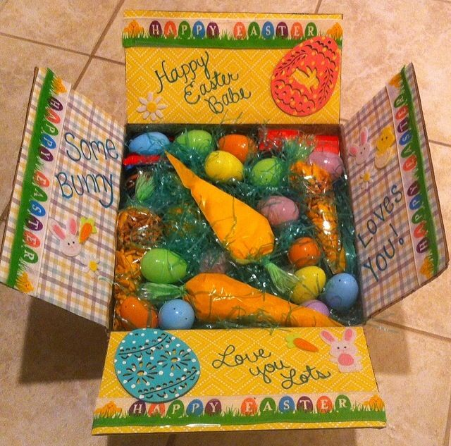 53 best care package box decoration images on pinterest package easter care package in love with how this came out easter eggs carrots some bunny loves you military crafting negle Images