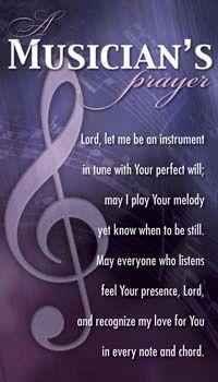 Musicians Prayer Pocket Card - Only 6 Left by SmileyMe!