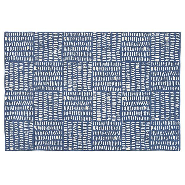 Shop 5 x 8' Tally Rug (Grey).  You can count on our Tally Rug to fit in any playroom, living room or bedroom.  Its handcrafted, 100% wool construction makes it as soft as it is versatile.  Designed exclusively for us by Gingiber.