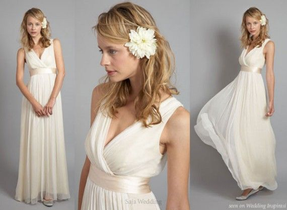Beautiful roman style wedding dress