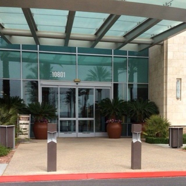 Our Knight Bollards and Receptacles enhance the entrance to TAL Design Studio in Las Vegas.