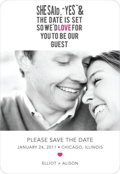 Love It Save the Date Magnet