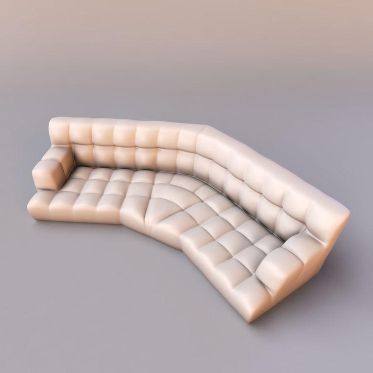 Max Bretz Cloud Sofa   3D Model
