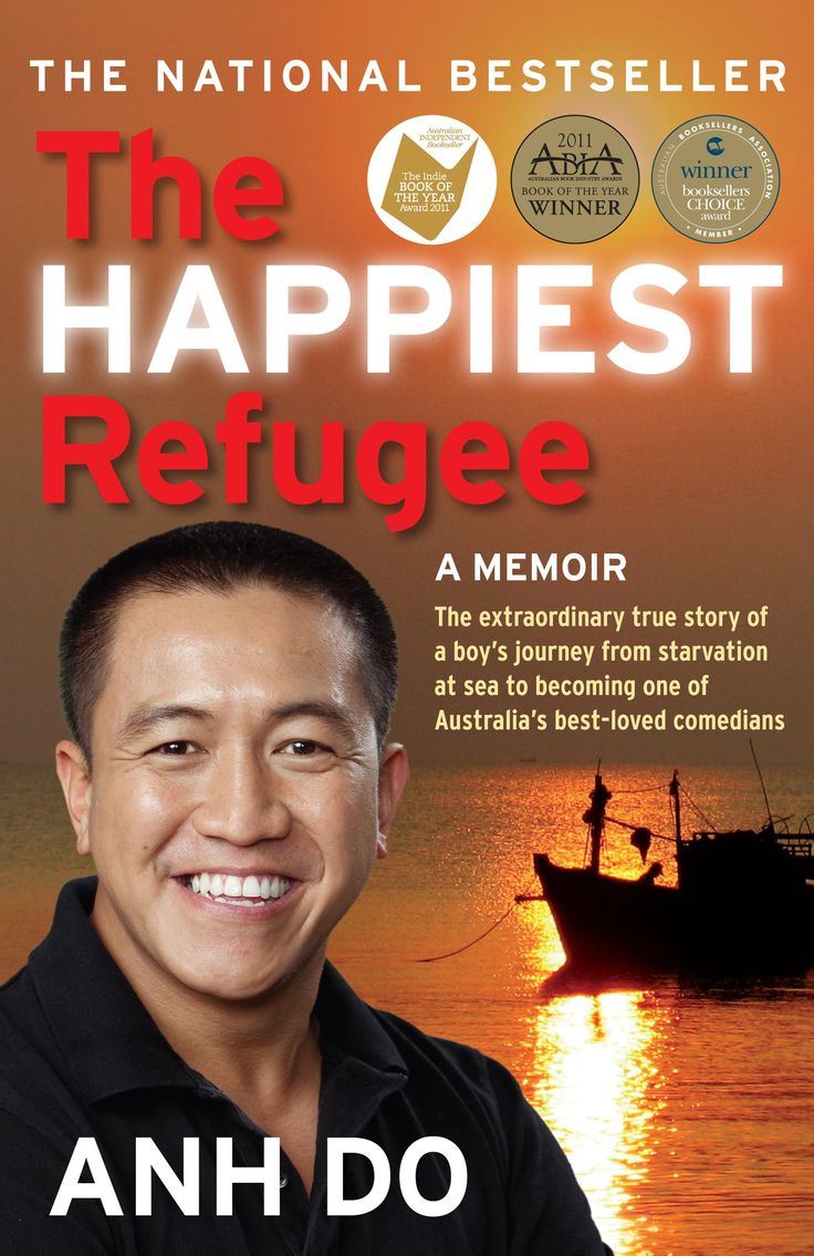 The Happiest Refugee is comedian Anh Do's memoir, which begins with his family's escape from war-torn Vietnam.  During their journey in a leaky fishing boat, Anh and his family nearly die from disease, starvation, dehydration and pirate attacks.   Even when they are rescued and resettled in Australia, there is no simple Happy Ever After: Anh & his family face many hardships while they rebuild their lives.  Hard work, determination, a loving family and a sense of humour help them to overcome…