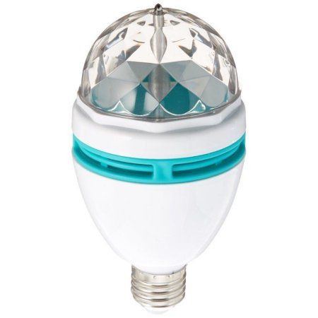 Lightahead® Rotating LED Strobe Bulb Multi Color Changing Crystal Stage Light