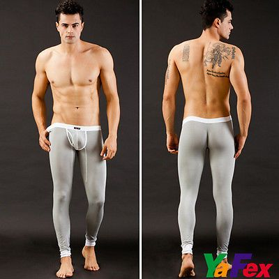 Sexy Men's Long Johns Pants Casual Thermal Bottom Winter Warm Leggings Underwear
