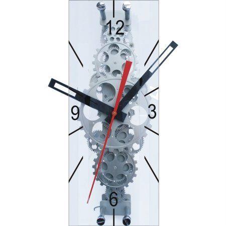 Maple S Large Moving Gear Wall Clock Rectangular Lens Wall Clocks