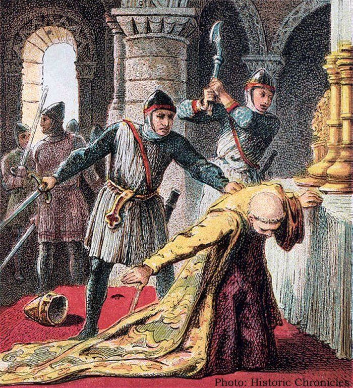 On This Day In History: Archbishop Thomas Becket Murdered – On Dec 29, 1170