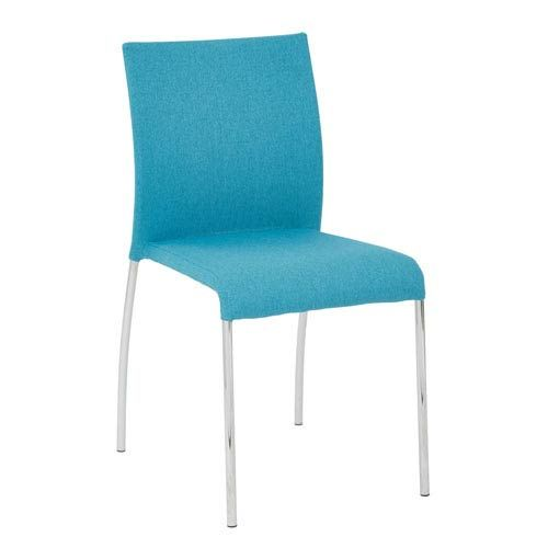 Conway Stacking Chair In Aqua Fabric, 4 Pack Avenue Six Folding & Stacking Chairs