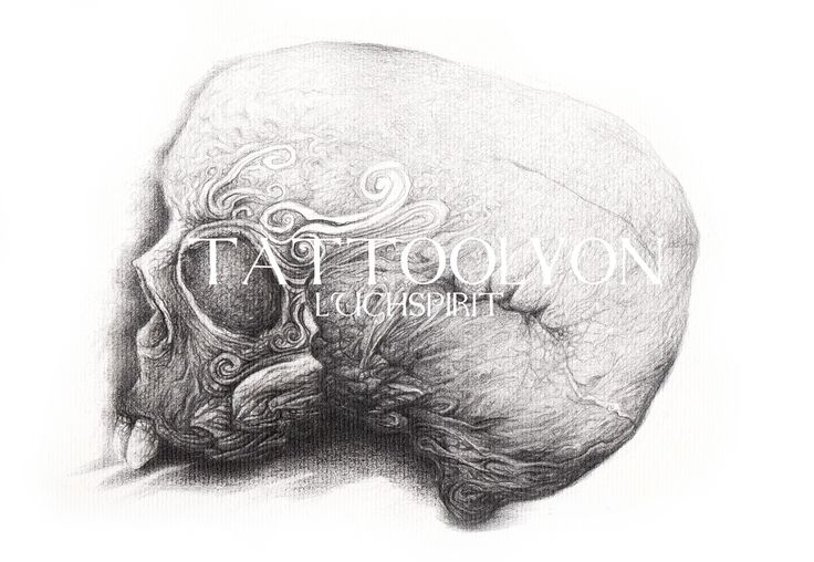 Skull by Paco # shop TattooLyon