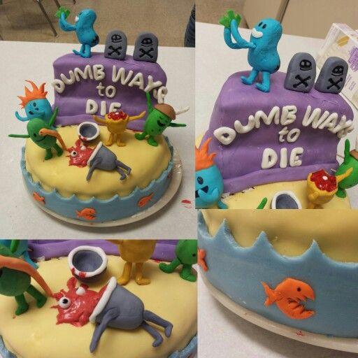 Dumb Ways To Die cake - Sooooo cute!!!