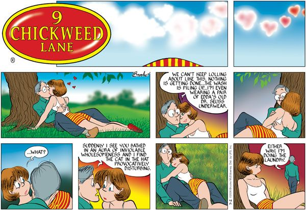 Has alluring ecology comic strip