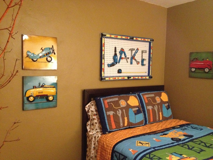Construction tool themed room for the home pinterest for Construction themed bedroom ideas