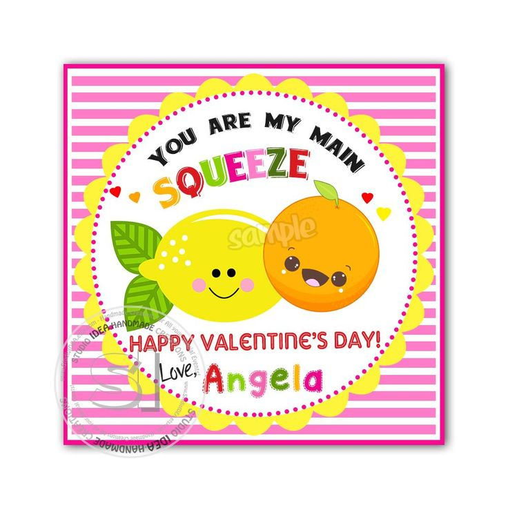"""Valentine's day Custom Printable Tags- 2.5"""" Tags-Happy Valentine's Day Personalized 2.5 inches Tags- Stickers DIY Favor Tags-Funny Valentines tags"""