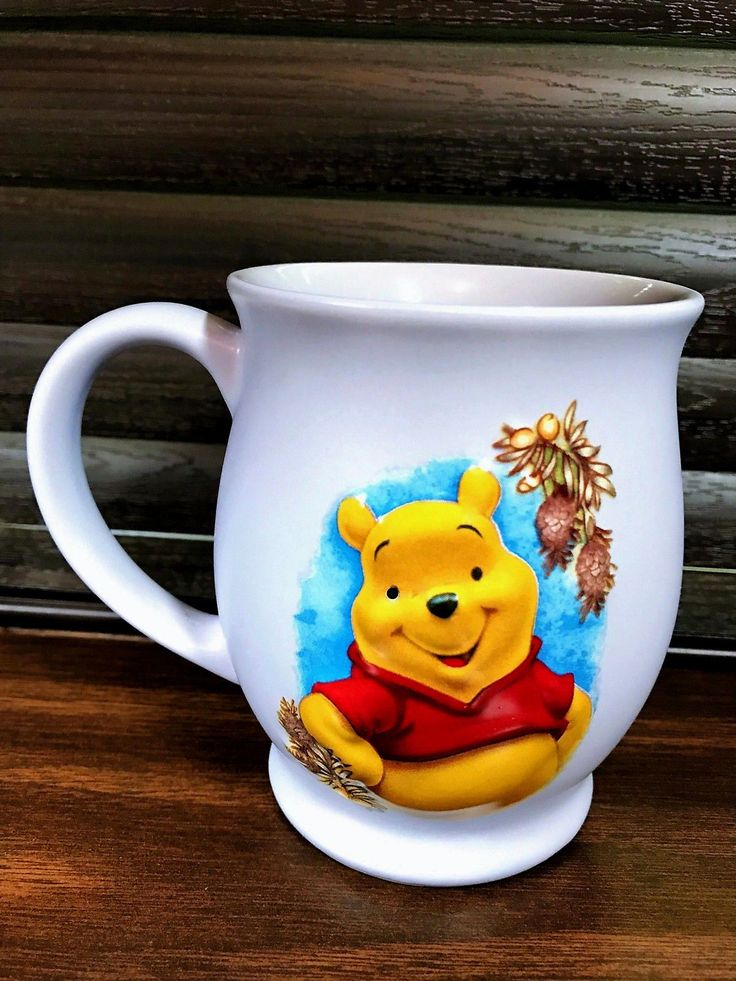 Winnie The Pooh Bear 3d Lavender Purple Coffee Cup Mug Ceramic Walt Disney Store
