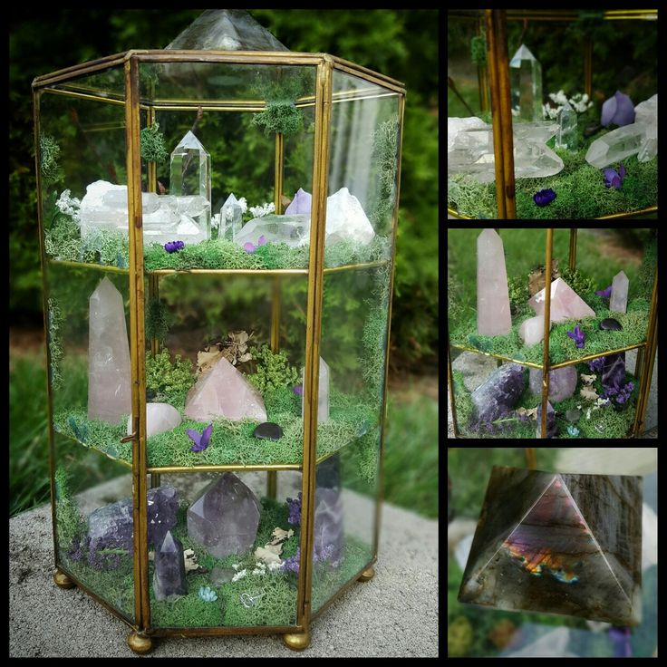 THREE levels of crystal awesomeness! Features Labradorite, Crystal Quartz, Rose…