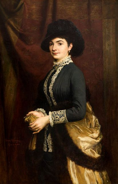 polishartandtea:  Tadeusz Ajdukiewicz 1852–1916 (Polish), Portrait of Antonina…