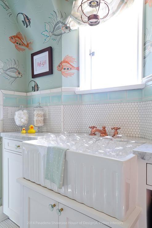 Image On Fish Themed Boys Bathroom Transitional Bathroom bathroomsforchildren