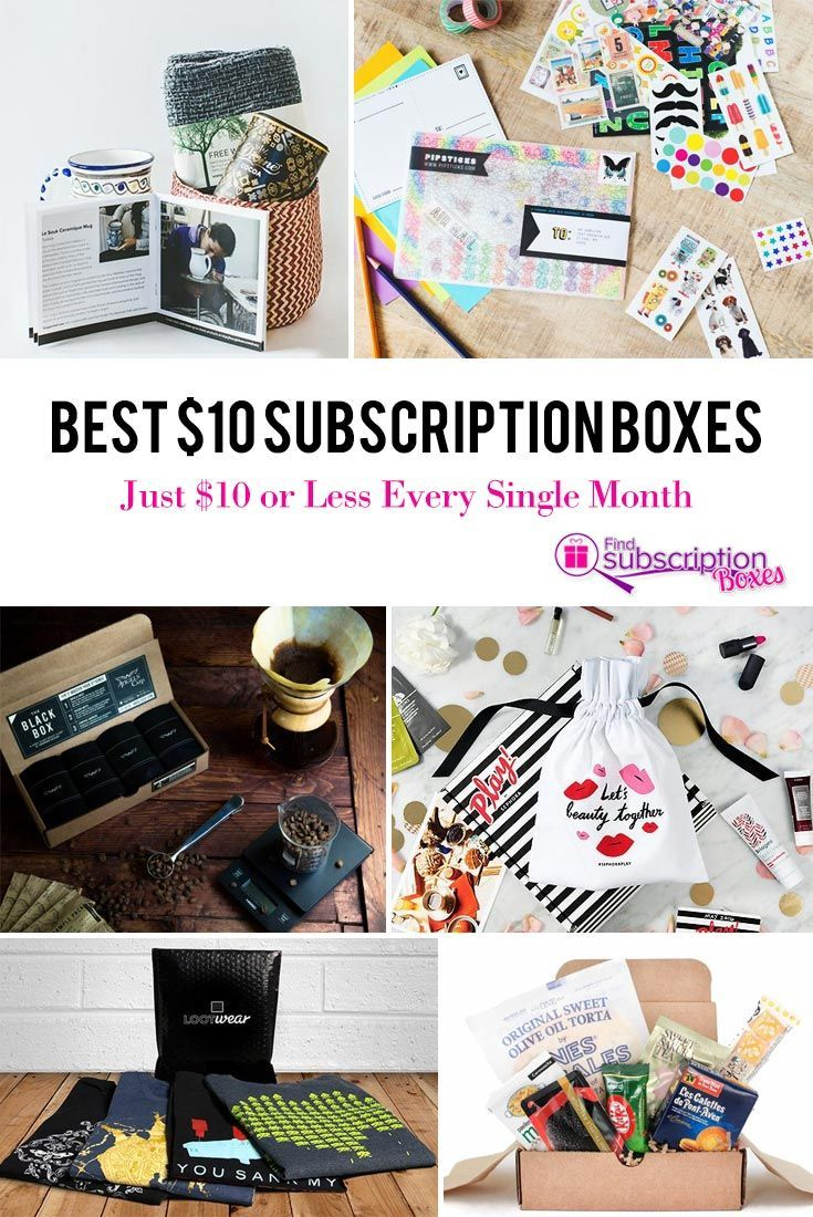 Best 10 Subscription Boxes Just 10 or Less Every Single