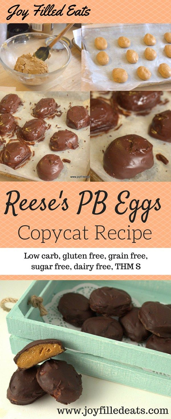Here is a Trim Healthy Mama friendly Reese's Egg copycat that is low carb, gluten, grain, sugar, and dairy free. Just in time for Easter!