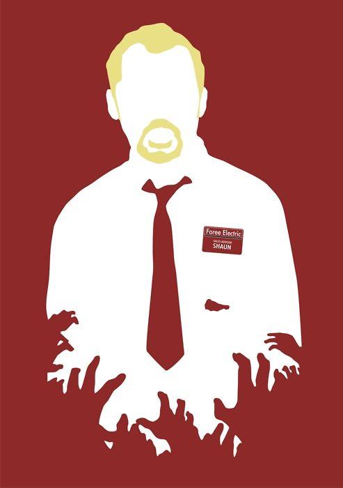 Minimalist Digital Movie Poster - Shaun of the Dead