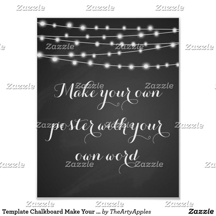 Template Chalkboard Make Your Own Poster Print