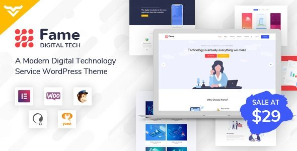 Fame – Digital Technology/Service WordPress Theme
