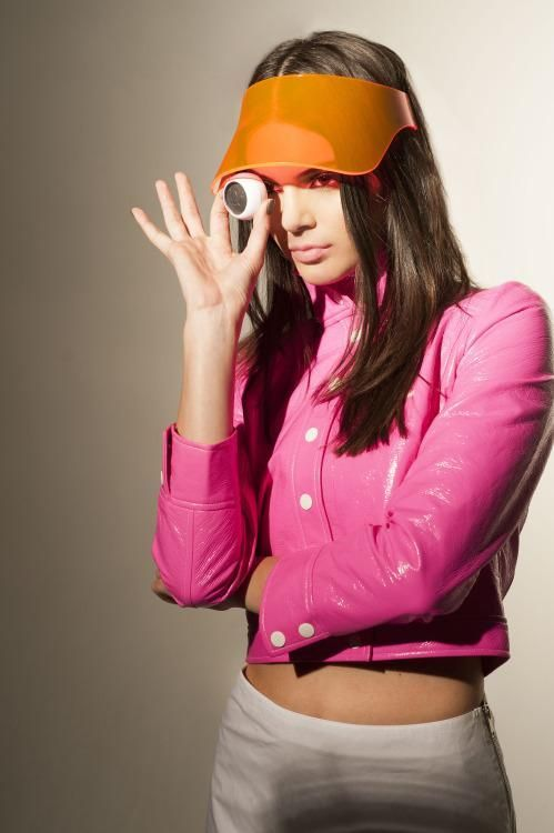 The new Courrèges collaboration, modeled by Kendall Jenner, definitely references the Space Age Mod trends that your grandma may have rocked in the swinging '60s. The new launch is inspired by the look of French-born designer André Courrèges, who was known for his 1964 Space Age collection.