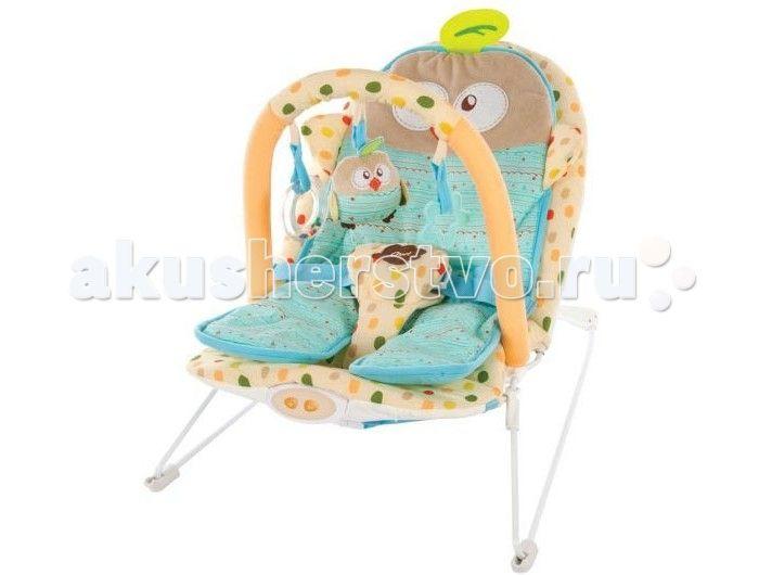 Жирафики Детское кресло-качалка Совенок  Жирафики Детское кресло-качалка Совенок с анатомической вкладкой, 3-мя развивающими игрушками, вибрацией и музыкой создан для младенцев. Этот замечательный шезлонг родители малыша оценят по достоинству, а ребенку в нем будет комфортно и интересно.  Кресло-качалка вполне устойчиво и комфортабельно. Матрас, выполненный в форме веселого пингвина, эргономичный, повторяет формы ребенка и распределяет центр тяжести, что важно для крепкого сна и безвредно…