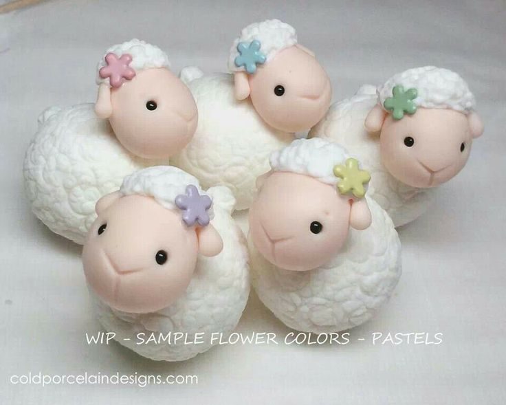 baby sheep!  Cookie/Cake toppers