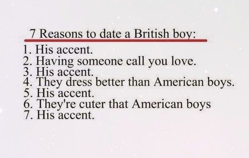 """British men...(yeah, you knew I would have to repin - I married a British """"boy"""" - his accent...)"""