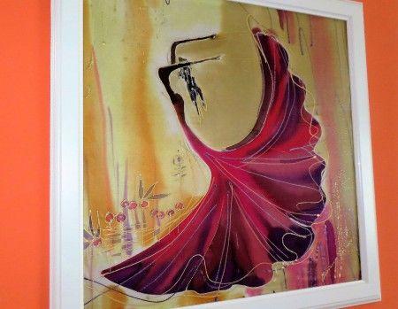 obraz FLAMENGO - v bielom ráme, 50x50cm, cena 60,-€, len osobný odber