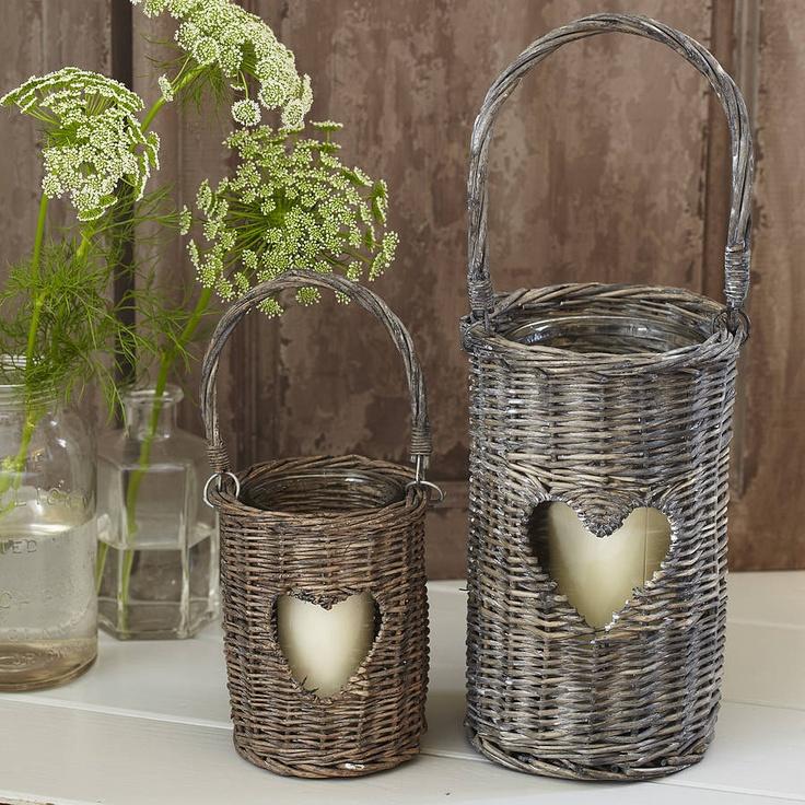 Wicker Heart Lanterns  by Primrose & Plum