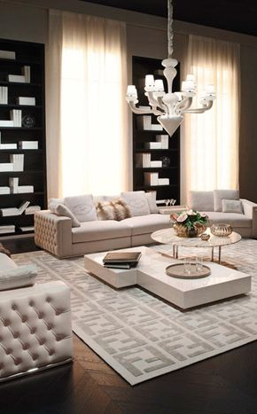 Fendi living room @}-,-;-- luxurious interior design ideas perfect for your projects. #interiors #design #homedecor www.covetlounge.net