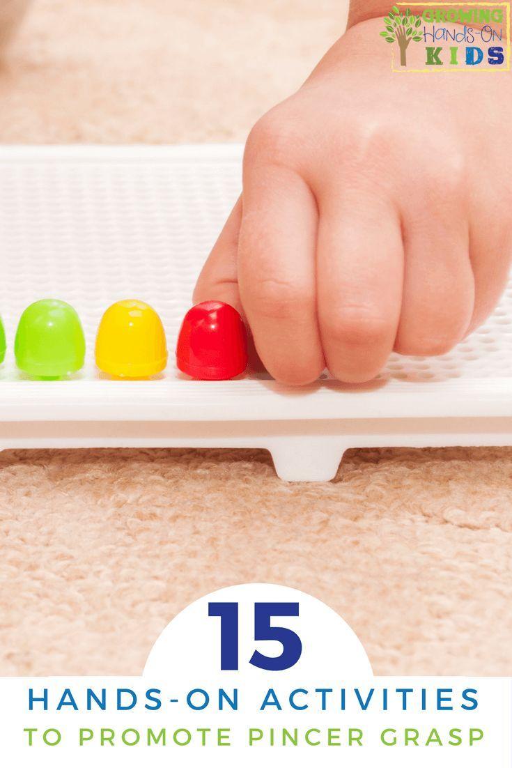 15 Hands-On Activities to Promote Pincer Grasp. via @growhandsonkids
