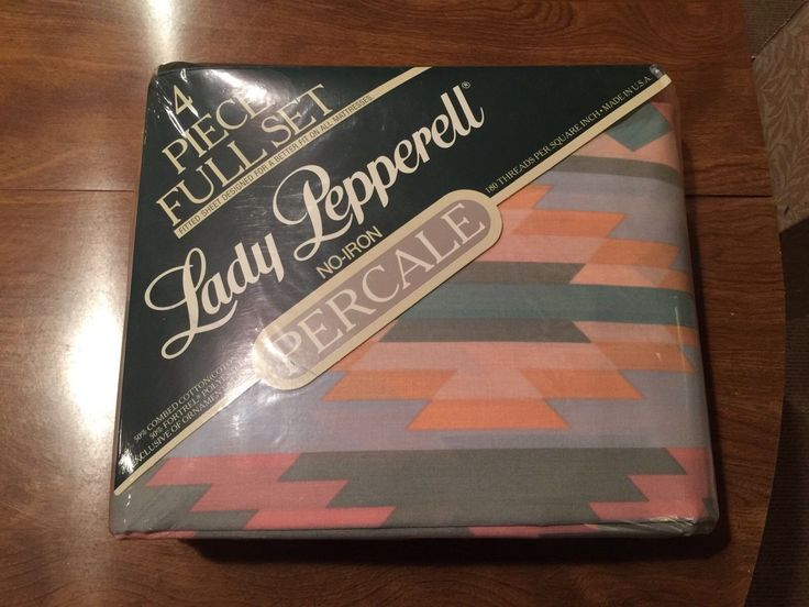 Lady Pepperell Full Sheet Set NEW Old Stock SEALED Mesa Vintage Southwestern Art in Collectibles, Linens & Textiles (1930-Now), Bed & Bath Linens, Sheets | eBay