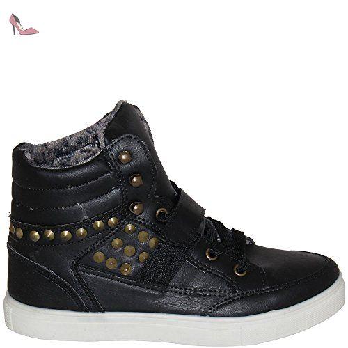 Unbekannt , Chaussons montants femme - Noir - Noir, 36 - Chaussures unbekannt (*Partner-Link)