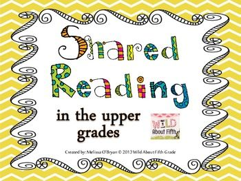 Shared Reading in the Upper Grades 5-Day Plan ~FREEBIE!~