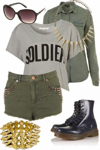 """Winning Event outfit for """"Camo crazy"""" styled by Mel #fashion #style"""