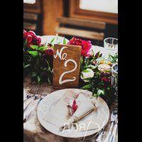 свадьба в стиле бохо во французских Альпах, номер стола