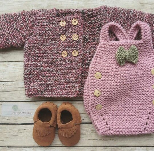 Knit baby outfit