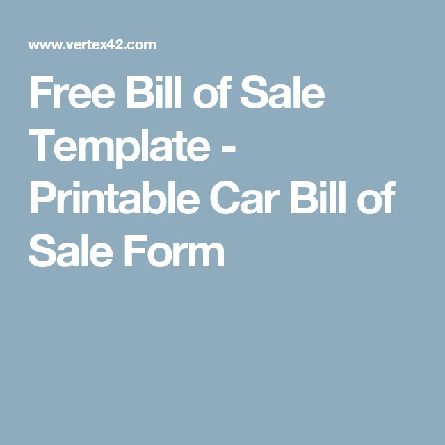 The 25+ best Bill of sale car ideas on Pinterest - bill of sale template word