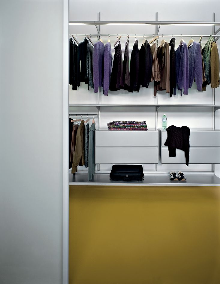 The Dot Wardrobe is a classic example of a realistic, well structured walk-in wardrobe.