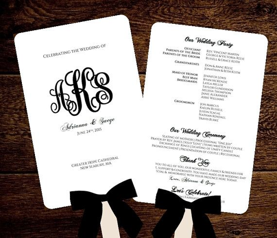 The 25 best diy wedding fans ideas on pinterest fan programs monogram wedding fan program printable template diy instant download suggested free fonts fonts solutioingenieria Image collections