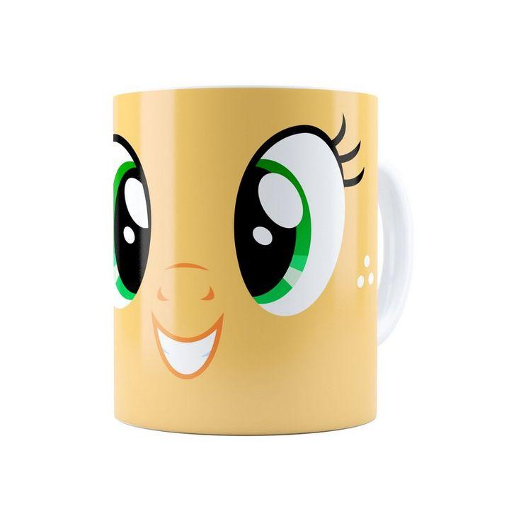 Caneca Porcelana My Little Pony Applejack Branca