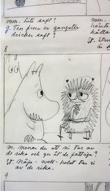 Original Moomins Drawing by Tove Jansson.
