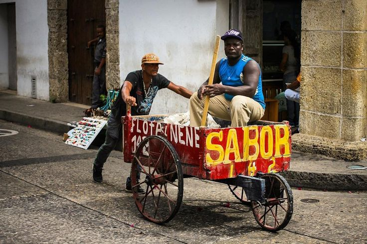 Another one from Cartagena de Indias #Colombia. These men were on their way to somewhere in the historical center in between the narrow streets and colonial houses.