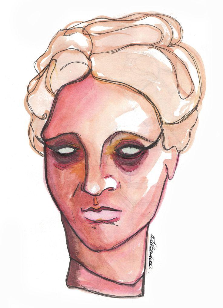 «Tired Venus» by @aleksandravss   #venus #tired #expresionism #art #watercolor #aleksandrav #thevenus #milovenus